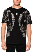 Marcelo Burlon County of Milan Skeleton-Print Short-Sleeve Graphic Tee, Black Multi