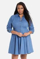 Fashion to Figure Dallas Denim Fit-and-Flare Dress