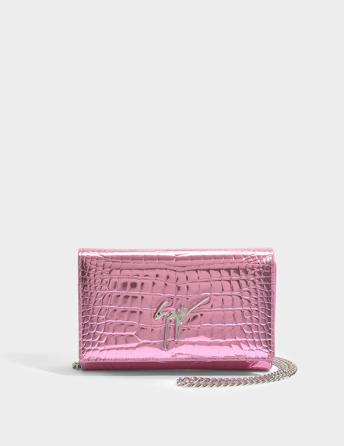 Giuseppe Zanotti Elettra Small Bag in Pink Elettra Leather
