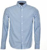Giorgio Armani Jeans Check Regular Fit Shirt Blue