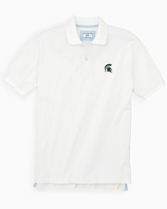 Southern Tide Michigan Spartans Pique Polo Shirt