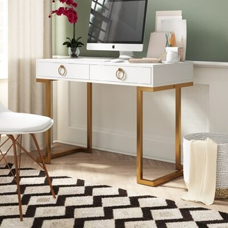 Mercer41 Micah Desk Color (Top/Frame): White