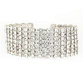 Natasha Accessories Natasha Silver-Tone Crystal Wrap Bracelet