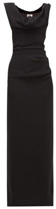 Vivienne Westwood Ginnie Draped-neck Crepe Dress - Black