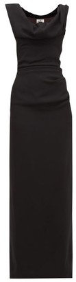 Vivienne Westwood Ginnie Draped-neck Crepe Dress - Womens - Black