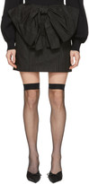 MSGM Black Bow Miniskirt