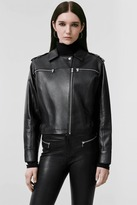 J Brand Maisie Leather Jacket in Black