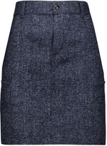 Tom Ford Denim-tweed mini skirt