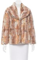 Alice + Olivia Faux Fur Shawl Collar Jacket