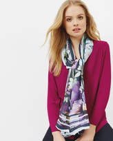 Ted Baker Entangled Enchantment silk applique scarf