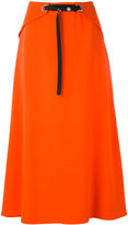 Thierry Mugler snap front midi skirt - women - Polyester/Acetate/Viscose - 42
