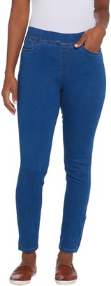 Denim & Co. Petite Denim Soft Stretch 5-Pocket Ankle Jeans