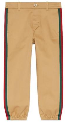 Gucci Stripe Stretch Gabardine Cotton Pants