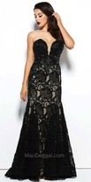 Mac Duggal Sweetheart Lace Beaded Fit and Flare Evening Gown