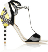 Webster Sophia Dulcie leather and woven sandals