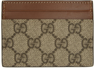 Gucci Beige GG Supreme Card Holder