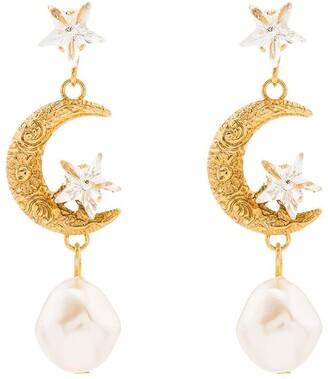 Jennifer Behr Elpis pearl drop earrings