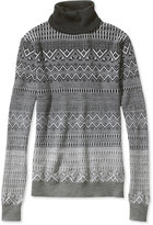 L.L. Bean Signature Merino Turtleneck Sweater, Fair Isle