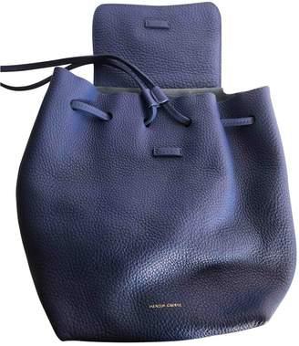 Mansur Gavriel Blue Leather Backpacks
