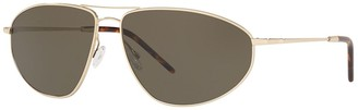 Oliver Peoples Kallen Polarized 62mm Aviator Sunglasses