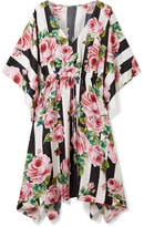 Dolce & Gabbana Printed Silk-twill Kaftan - Antique rose