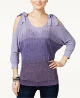 INC International Concepts Cold-Shoulder Bow Sweater, Only at Macy's