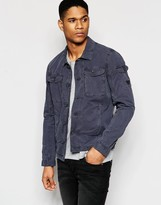 Armani Jeans Jacket in Garment Dyed Cotton
