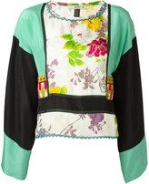 Etro floral print tunic - women - Silk/Cotton/Viscose/glass - 40
