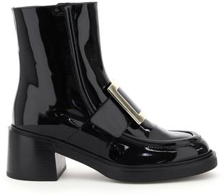 Roger Vivier Viv Rangers Metal Buckle Ankle Boots