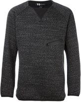 Y-3 chest zip sweatshirt