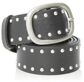 Topshop Leather Double Faced Stud Belt
