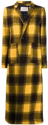 La DoubleJ checked duster coat