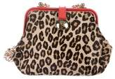 Alexander McQueen Leopard Print Ponyhair Mini Bag