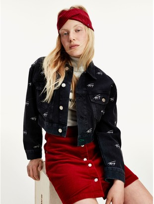 Tommy Hilfiger Recycled Cotton Cropped Trucker Jacket