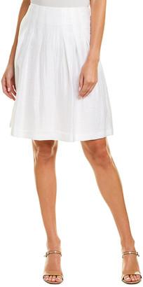 Leggiadro Crinkle Silk-Lined Linen-Blend Skirt