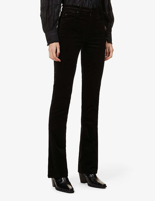 Mother The High-Waisted Runaway slim-fit bootcut high-rise corduroy jeans