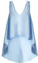 Natasha Zinko Waterfall-hem sleeveless cotton-poplin top
