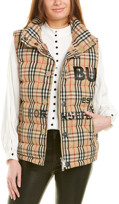 Burberry Horseferry Check Print Puffer Vest
