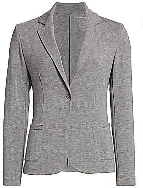 Majestic Filatures Women's French Terry Single-Button Blazer