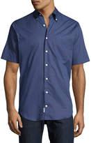 Peter Millar What Goes Up Short-Sleeve Shirt, Navy