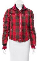 Bogner Plaid Long Sleeve Jacket