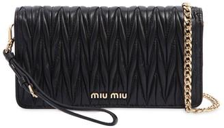 Miu Miu MINI QUILTED LEATHER SHOULDER BAG
