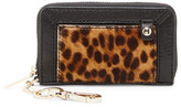 Alice + Olivia Genuine Calf Hair Leather Wallet with Keychain