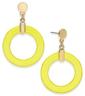 Alfani Gold-Tone Circle Drop Earrings, Created for Macy's