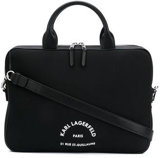 Karl Lagerfeld Paris Rue St Guillaume laptop sleeve bag