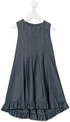 Lapin House sleeveless dip-hem A-line dress