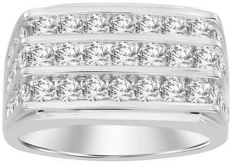 FINE JEWELRY Mens 3 CT. T.W. Genuine White Diamond 10K Gold Wedding Fashion Ring
