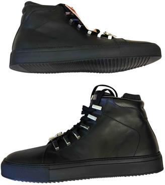 Cesare Paciotti Black Leather Boots
