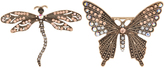 Accessorize Dragonfly And Butterfly Brooch Pack