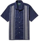 Gitman Brothers Camp-Collar Embroidered Cotton Guayabera Shirt